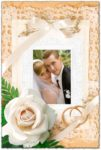 Wedding photo frame Photoshop template