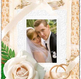 Wedding photo frame Photoshop template