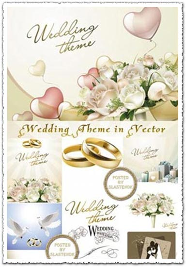 Wedding template vectors