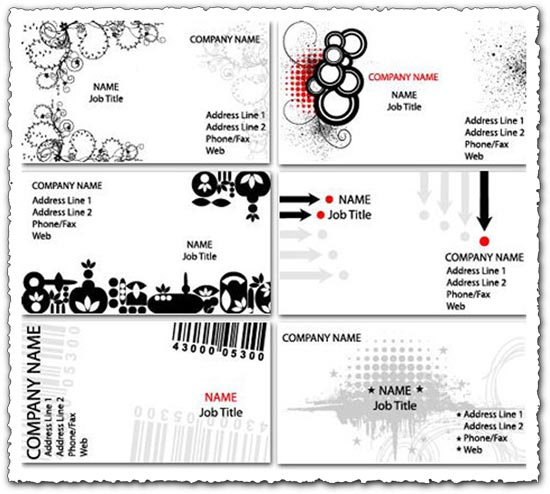 White business cards vectors
