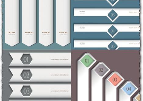 White headers vector templates