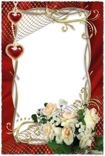 white roses on wedding photo frame white roses on wedding photo frame