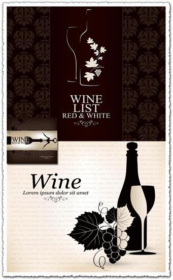 Wine bottle vector restaurant banners