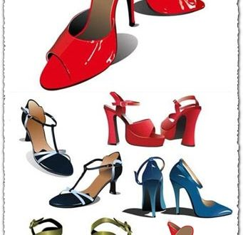 Woman shoes vector design