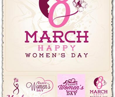 Womens day greeting card for 8 march