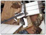 Wood and asphalt trash textures