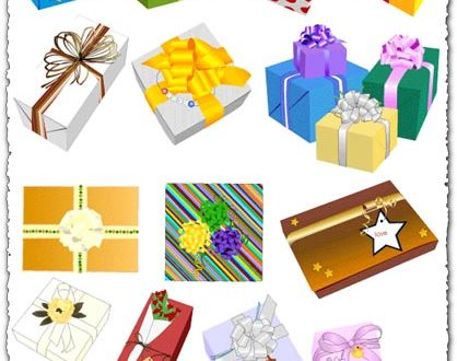 Wrapped vector gifts