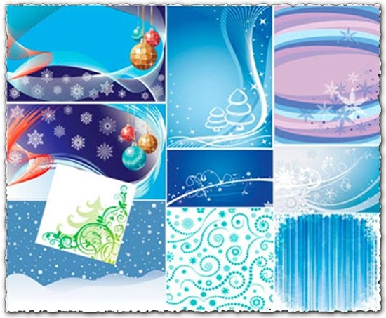 Christmas backgrounds in vector format