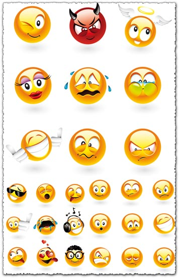 Yahoo emoticons vectors design