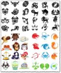 Zodiac constellation signs vectors