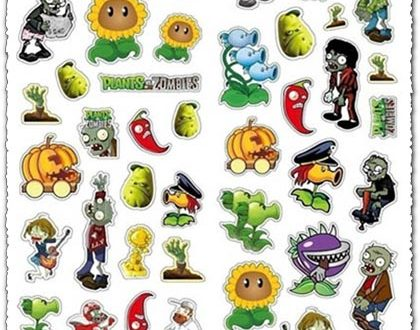 Zombie stickers vector templates