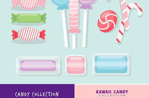 Candy vector sweets collection