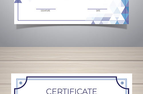 Certificate of excellence vector template