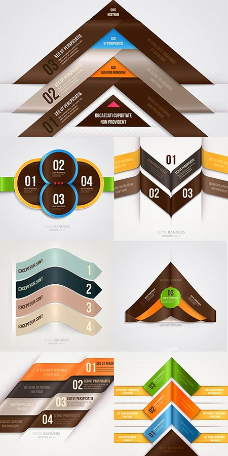 Business colorful stickers vectors