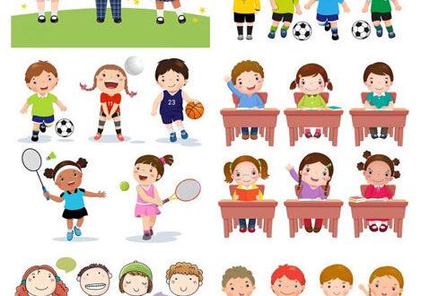 Children activities at school vectors