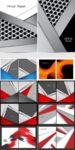 Colorful brochure covers vectors