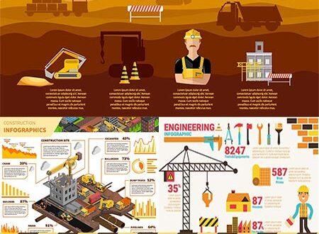 Engineering infographic vector