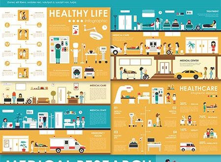 Medical health care vector infographics