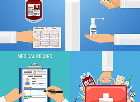 Medical services vector flat banners