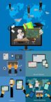 Online learning education vector concepts