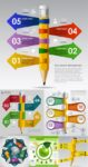 Pointers and arrows infographics