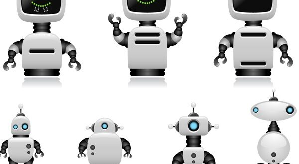 Robot character vector illustration