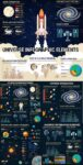 Space research info charts vectors