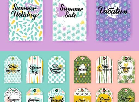 Spring sale tags vector labels