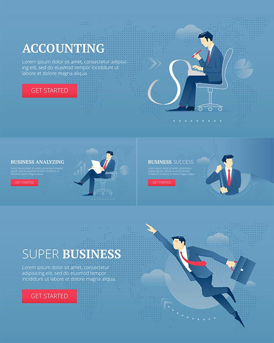 Successful business analysis vectors