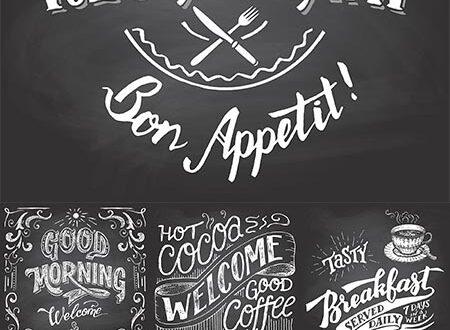 Vintage chalkboard signs vectors
