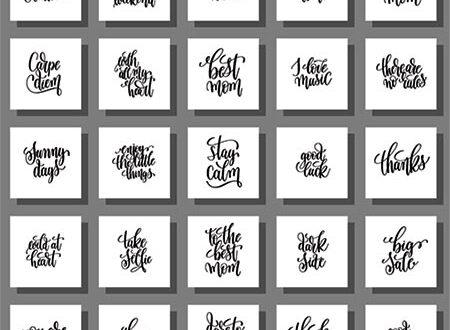 Inspirational calligraphy quotes vectors