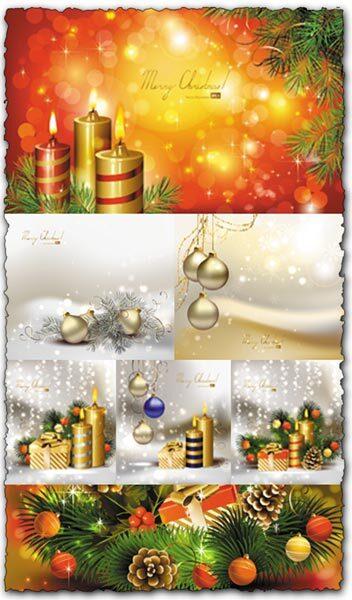 Christmas illustration cards vectors